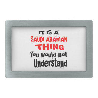 IT IS SAUDI ARABIAN THING DESIGNS RECTANGULAR BELT BUCKLE