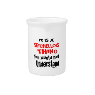 IT IS SEYCHELLOIS THING DESIGNS PITCHER