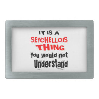 IT IS SEYCHELLOIS THING DESIGNS RECTANGULAR BELT BUCKLES