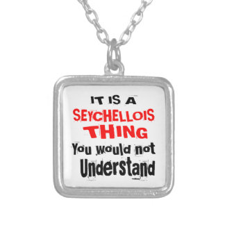 IT IS SEYCHELLOIS THING DESIGNS SILVER PLATED NECKLACE