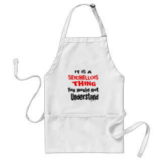IT IS SEYCHELLOIS THING DESIGNS STANDARD APRON