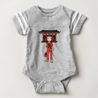 It is shallow child which is the dispatch employee baby bodysuit