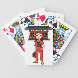 It is shallow child which is the dispatch employee bicycle playing cards