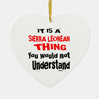 IT IS SIERRA LEONEAN THING DESIGNS CERAMIC ORNAMENT