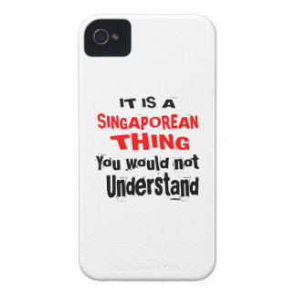 IT IS SINGAPOREAN THING DESIGNS iPhone 4 Case-Mate CASES