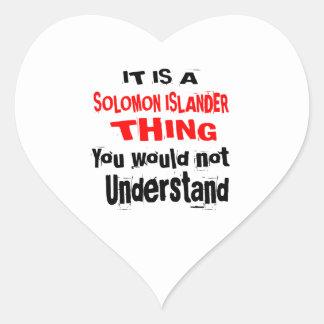 IT IS SOLOMON ISLANDER THING DESIGNS HEART STICKER