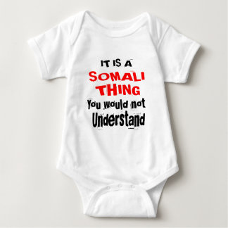 IT IS SOMALI THING DESIGNS BABY BODYSUIT