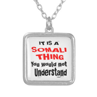 IT IS SOMALI THING DESIGNS SILVER PLATED NECKLACE