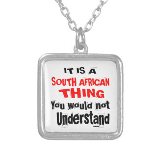 IT IS SOUTH AFRICAN THING DESIGNS SILVER PLATED NECKLACE