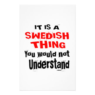 IT IS SWEDISH THING DESIGNS STATIONERY
