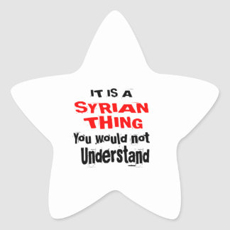 IT IS SYRIAN THING DESIGNS STAR STICKER