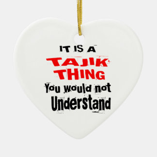 IT IS TAJIK THING DESIGNS CERAMIC ORNAMENT