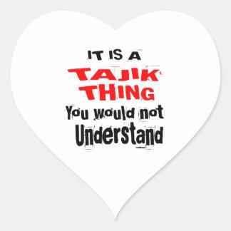 IT IS TAJIK THING DESIGNS HEART STICKER