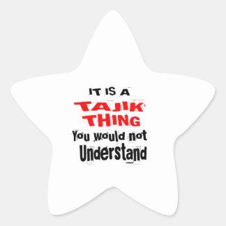 IT IS TAJIK THING DESIGNS STAR STICKER
