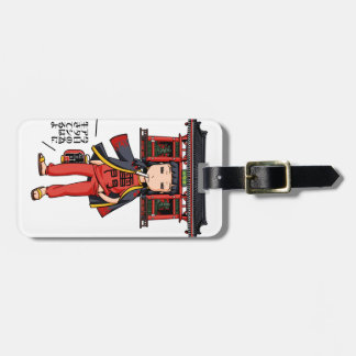 It is the celebration, it is shallow! English Luggage Tag