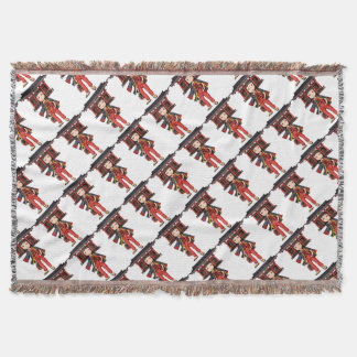 It is the celebration, it is shallow! English Throw Blanket