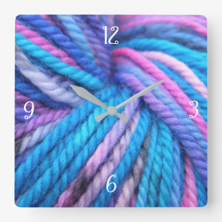 It is the hour to knit square wall clock