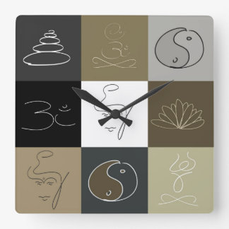 It is time to relax square wall clock