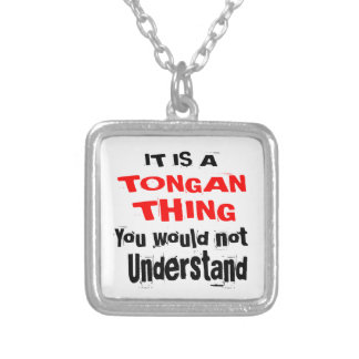 IT IS TONGAN THING DESIGNS SILVER PLATED NECKLACE