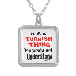 IT IS TURKISH THING DESIGNS SILVER PLATED NECKLACE