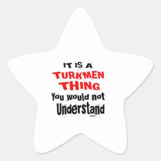 IT IS TURKMEN THING DESIGNS STAR STICKER
