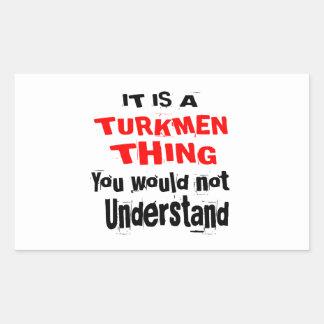 IT IS TURKMEN THING DESIGNS STICKER