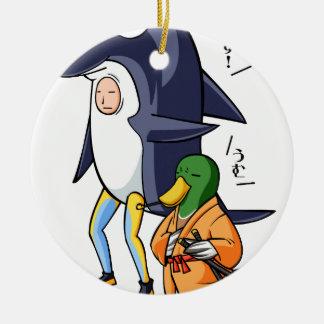 It is turn! Duck teacher! English story Kamogawa Ceramic Ornament
