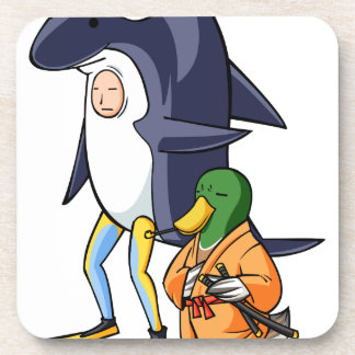 It is turn! Duck teacher! English story Kamogawa Drink Coaster