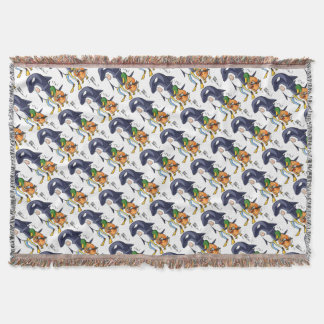 It is turn! Duck teacher! English story Kamogawa Throw Blanket