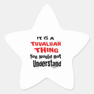 IT IS TUVALUAN THING DESIGNS STAR STICKER