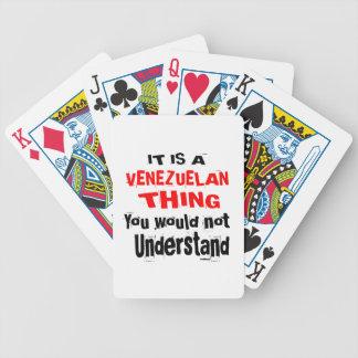 IT IS VENEZUELAN THING DESIGNS BICYCLE PLAYING CARDS