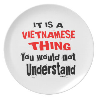 IT IS VIETNAMESE THING DESIGNS PLATE