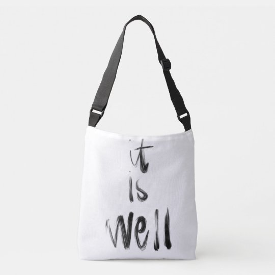 It Is Well Crossbody Tote