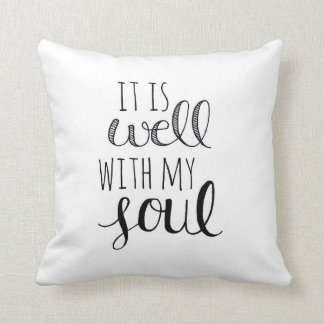 It is Well Hand Lettered Pillow