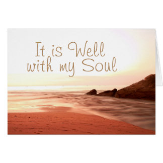 It is Well With My Soul, Beloved Hymn Card
