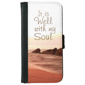 It is Well With My Soul, Beloved Hymn iPhone 6 Wallet Case