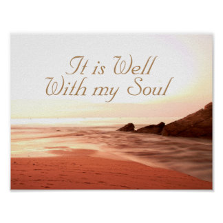It is Well With My Soul, Beloved Hymn Poster