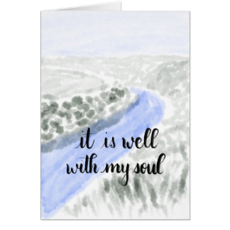 It Is Well With My Soul Handlettered Greeting Card