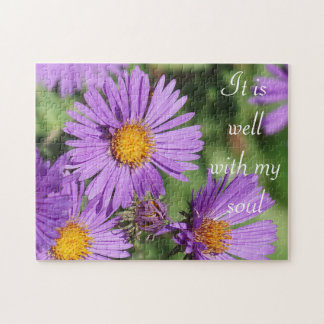 It Is Well With My Soul New England Aster Puzzle