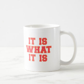 It Is What It Is Pink And Gold Coffee Mugs