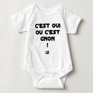 IT IS YES OR IT IS THUMP! - Word games Baby Bodysuit