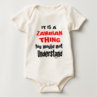 IT IS ZAMBIAN THING DESIGNS BABY BODYSUIT