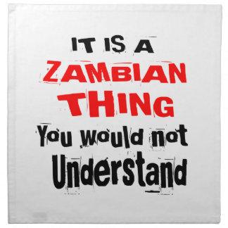 IT IS ZAMBIAN THING DESIGNS NAPKIN
