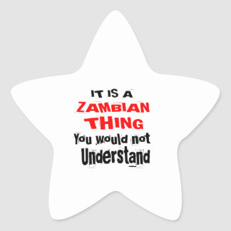 IT IS ZAMBIAN THING DESIGNS STAR STICKER
