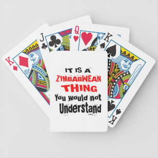 IT IS ZIMBABWEAN THING DESIGNS BICYCLE PLAYING CARDS