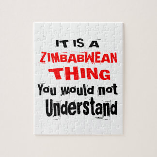 IT IS ZIMBABWEAN THING DESIGNS JIGSAW PUZZLE