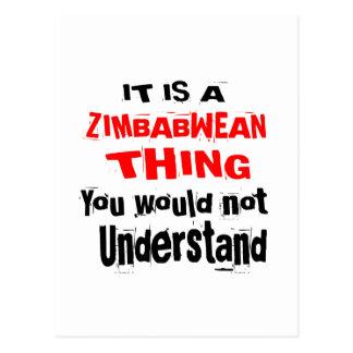 IT IS ZIMBABWEAN THING DESIGNS POSTCARD