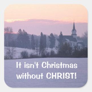 It Isn't Christmas Square Sticker