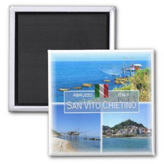 IT Italy # Abruzzo - San Vito Chietino - Square Magnet