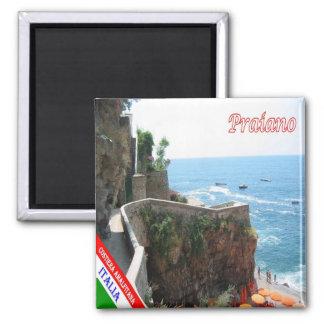 IT - Italy - Amalfi Coast - Praiano Square Magnet